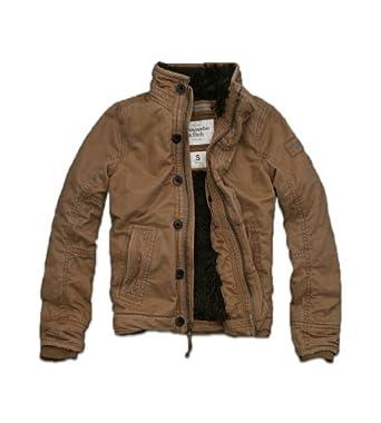 Amazoncom Abercrombie Fitch Men 39s Fur Lined Khaki Winter Coat Clothing