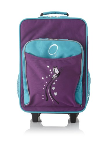 O3 Kids Rolling Luggage with Integrated Snack Cooler, Butterfly