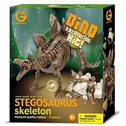 Dinosaur skeleton excavation kit Stegosaurus specimen (japan import)