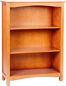 Bolton Furniture 8060Y00 Wakefield Bookcase with Two Adjustable Shelves, Honey