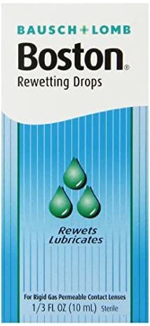 Boston Rewetting Drops for Rigid Gas Permeable Contact Lenses 1/3 Ounce Bottle