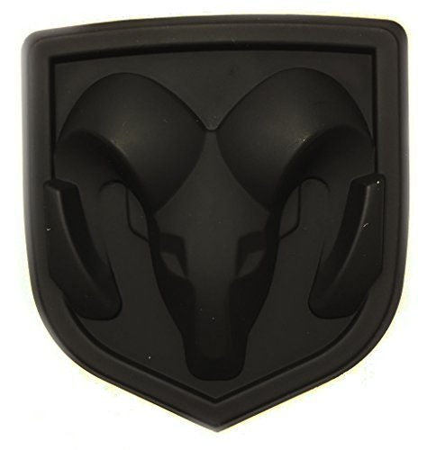New Matte Black Ram Head Emblem Replace OEM Mopar Dodge Ram Charger Challenger 68082011AA (Dodge Challenger Hood Emblem compare prices)