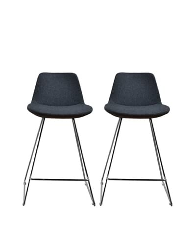 Aeon Furniture Set of 2 Alyssa Counter Stools, Grey