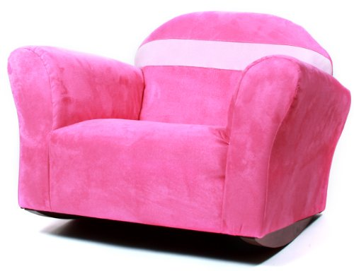 Fantasy Furniture Bubble Rocking Microsuede Chair, Pink