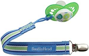 Booginhead Pacifier Holder, Blue/Green/White (Discontinued by Manufacturer)