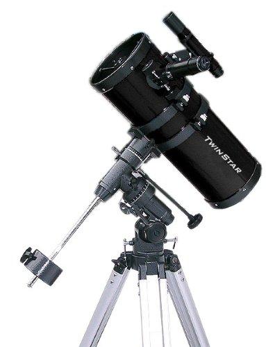 "Black Twinstar 6"" Short Tube Reflector Telescope Eq Mount"