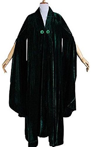[Harry Potter Cosplay Minerva McGonagall Green Costume (M)] (Harry Potter Characters Costumes)