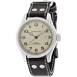 Hamilton Men's Khaki Field Pioneer Silver-tone Dial Watch (H60455593)