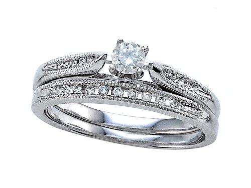 Round Diamonds Wedding Engagement Ring Set - IGI Certified LIFETIME WARRANTY