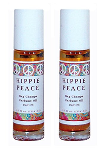 Hippie Peace (Nag Champa) Perfume Oil Roll On - Set of 2 (THIS ITEM SHIPS FREE ! PROMOTION APPLIED DURING CHECK OUT)