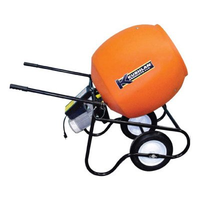 Kushlan Professional Portable Electric Direct Drive Cement Mixer - 6 Cubic Ft., Model# 600Dd