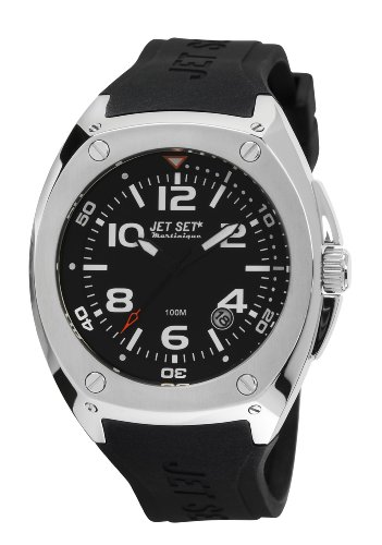 Jet Set J32823-267 - Reloj analógico de cuarzo para hombre, correa de caucho color negro