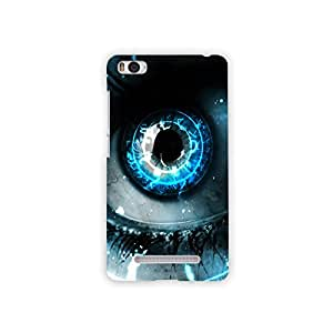 Mikzy Blue Eye Printed Designer Back Cover Case for Xiaomi Mi4i