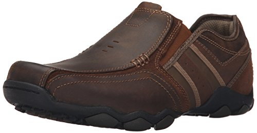 Skechers - Diameter Zinroy, mocassini  da uomo, Marrone (Brown (Marron)), 45