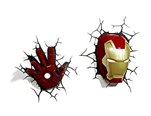 Toy Story 3d Wall Light : Marvel 3D Deco Light Avengers Iron Man Mask Helmet and Repulsor Hand Deluxe Set Wall Nightlight ...