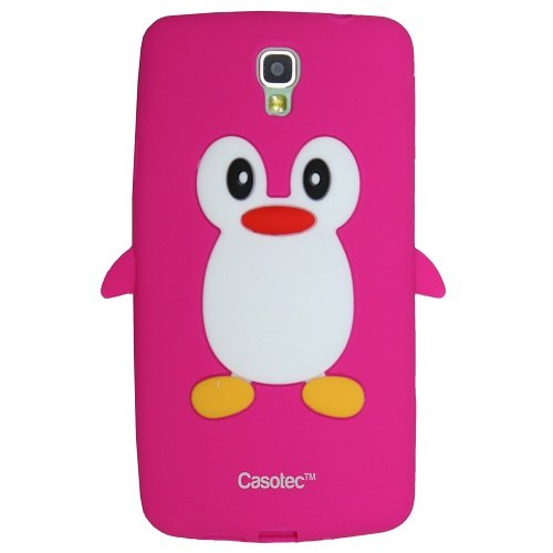 Casotec Penguin Silicone Jelly Back Case Cover for Samsung Galaxy Note 3 Neo - Hot pink  available at amazon for Rs.125