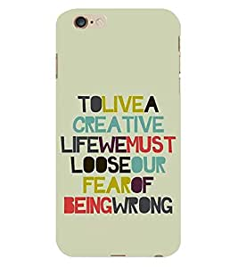 LIFE QUOTE Designer Back Case Cover for Apple iPhone 6S Plus