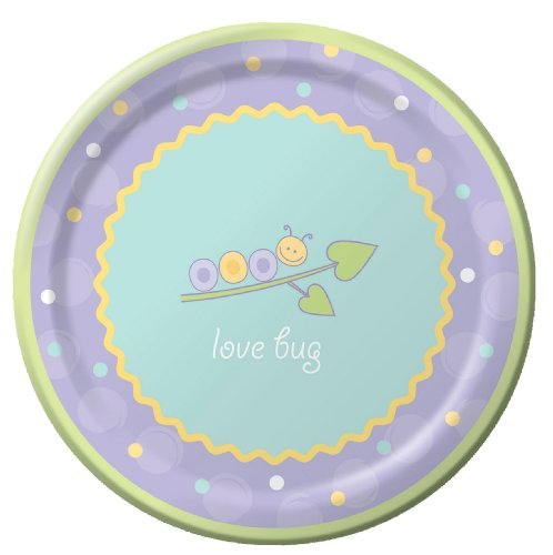 Love Bug Banquet Plate (8 ct) (8 per package)
