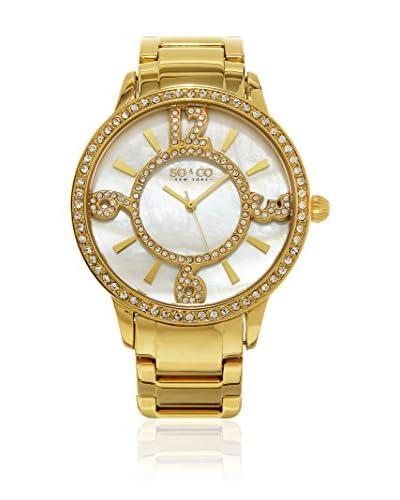 SO & CO New York Reloj con movimiento cuarzo japonés Gp15975 Dorado 40  mm
