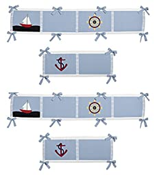 Come Sail Away Collection Crib Bumper by Sweet Jojo Designs