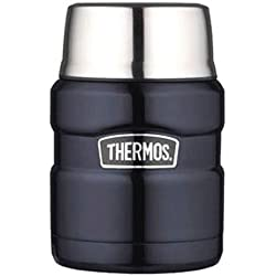 Thermos Stainless King Food Jar with Folding Spoon, 16 ounce, Midnight Blue