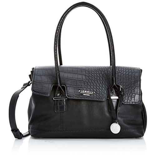 Fiorelli Womens Olivia Jade Shoulder Bag FH8032 Black Croc Mix