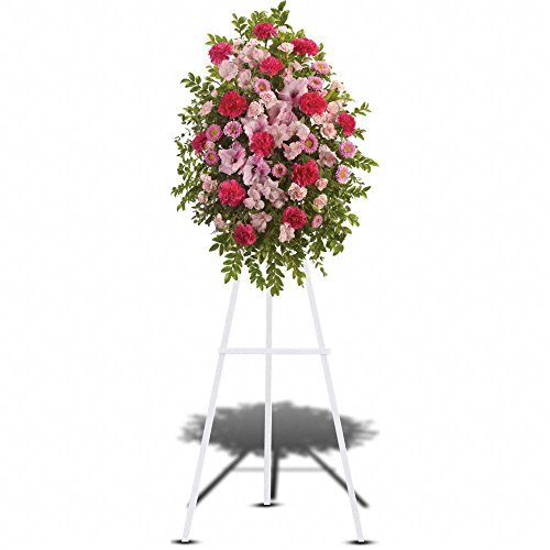 Pink Tribute Spray – Standing Sprays & Wreaths – Sympathy & Funeral Flowers