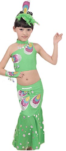 JustinCostume Girls' Peacock DanceWear Kids Party Dance Dress Belly Dance Costume