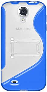 Amzer AMZ95694 Protective TPU Skin Case Cover with Kickstand for Samsung GALAXY S4 GT-i9500 - 1 Pack - Retail Packaging - Blue