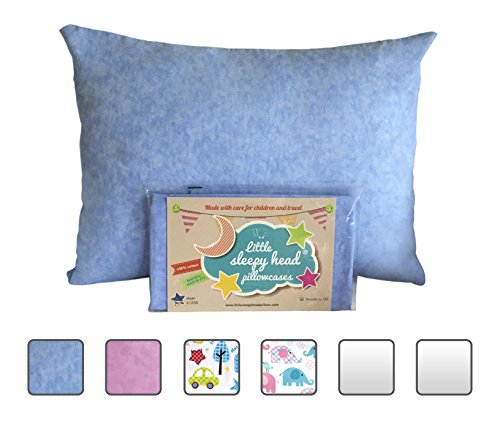 Read About Little Sleepy Head Toddler Pillowcase - Blue Marble, 13 x 18