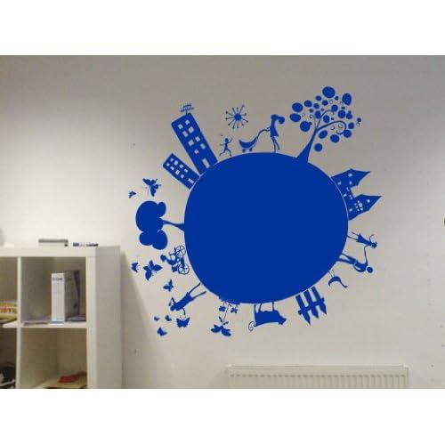 Vinyl Wall Decal Kids Planet Art Design Sticker