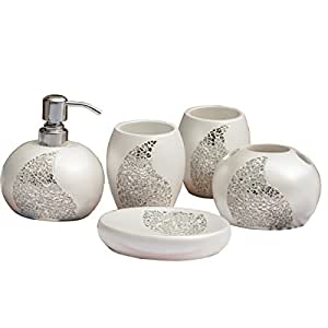 Brandream magical bling bath ensemble 5 piece for Bathroom accessories with bling
