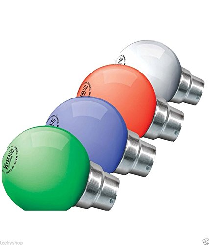0.5-W-LED-Bulb-B22-White-(Multicolor,-Pack-of-6)-