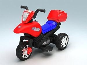 Best Seller Kids Boys Girls 3 Wheeler Ride On Trike Electric Motorbike Motorcycle Toy Car w/Music & Lunch Box, #811 Red