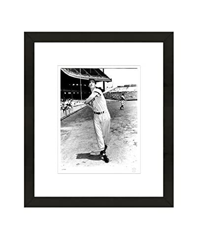 Art Source Babe Ruth Print, Black/White