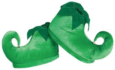 rubies-costume-co-deluxe-elf-shoes-green-one-size