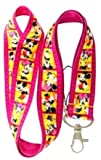 Pink Mickey & Minnie Mouse Lanyard Key Chain Holder