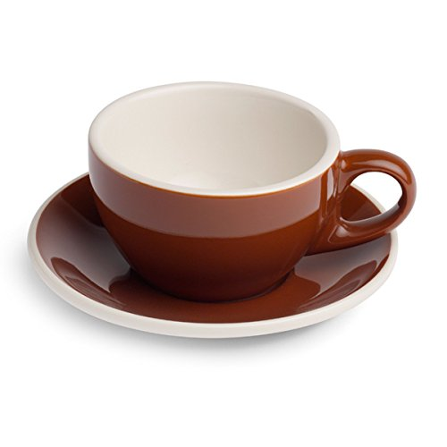 Renaissance Classic Italian Line Cup & Saucer, Set of 6 (10.0 oz, Brown) (Renaissance Coffee Cups compare prices)