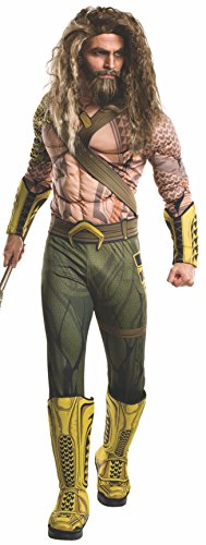 Rubie's Men's Batman v Superman: Dawn of Justice Deluxe Aquaman Costume, Multi, One Size