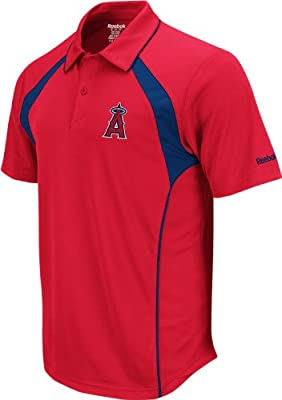 Los Angeles Angels Reebok Trainer Red Performance Polo Shirt
