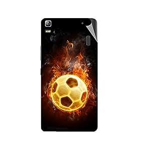 Miicreations Mobile Skin Sticker For Lenovo K3 Note,Football