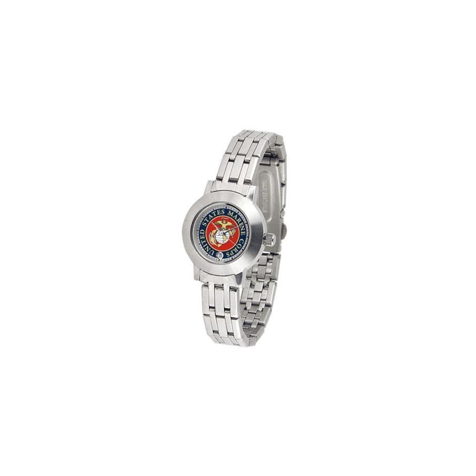 U.S. Marine Corps MILITARY Womens Steel Dynasty Watch