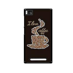 Vibhar printed case back cover for Xiaomi Mi 4i ILoveCoffee
