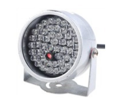 Riorand® Ф5 X 48 Led Illuminator 40M Ir Infrared Ccd Camera With Night Vision - White