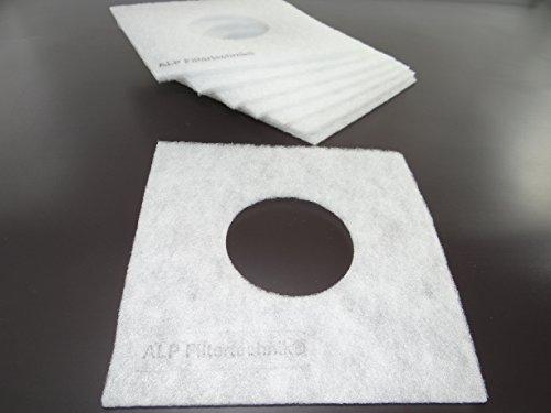 50x Ersatzfilter für Badlüfter 160×160 mm mit Loch 42mm – Luftfilter Ersatzfiltermatte für Ventilator Lüfter Helios ELF ELSN