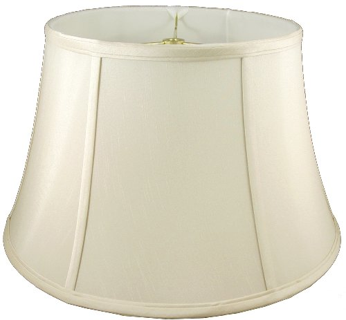 American Pride Lampshade Co. 05-78090418A Round Soft Tailored Lampshade, Shantung, Eggshell