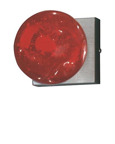 SEGNO Wandleuchte Blazar Applique S+L Ns/Vetr.Murano1X40W G9 rot