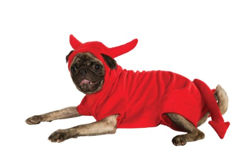 Rubies Costume Halloween Classics Collection Pet Costume, Medium, Fleece Devil Dawg Costume Hoodie