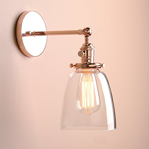 Permo Industrial Vintage Single Sconce With Oval Cone