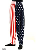 BAGGY GYM WORKOUT PANTS-USA FLAG PRINT